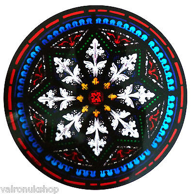 STAINED GLASS WINDOW ART - STATIC CLING  DECORATION -