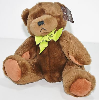 Plush Stuffed  Brown Proflowers  7  Tall Sitting Teddy Bear Soft Cuddle Toy