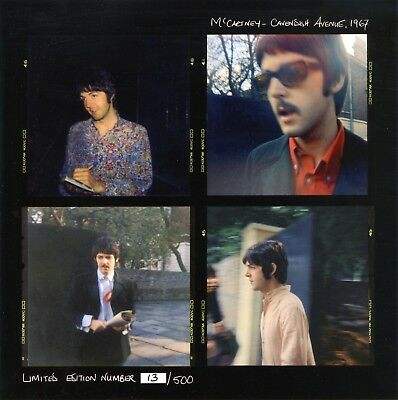 Paul McCartney 1967 Cavendish Avenue Limited Edition Of 500 Contact Sheet