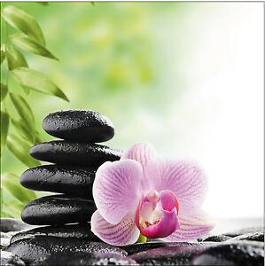 sticker deco galet zen fleur ref 525 16