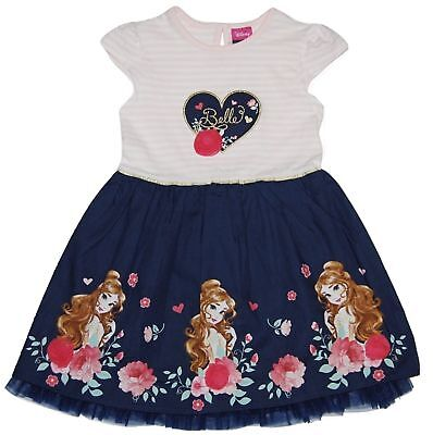 BRAND NEW GIRLS EX-GEORGE DISNEY PRINCESS BELLE DRESS AGES: 2-3 up to 6-7 YEARS