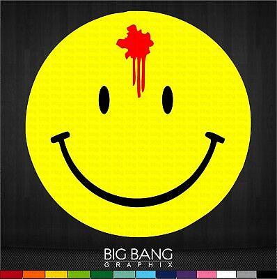 Retro Smiley Face Bloody Bullet Hole Vinyl Sticker Decal Truck Car Window Body  - Bloody Bullet Hole