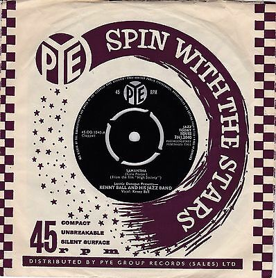 "Kenny Ball And His Jazz Band 1961 - 7"" Vinyl 45 RPM - Samantha/Nuages"