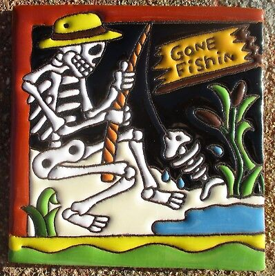 Day Of The Dead Man (1 Talavera Day of the Dead Tile 4