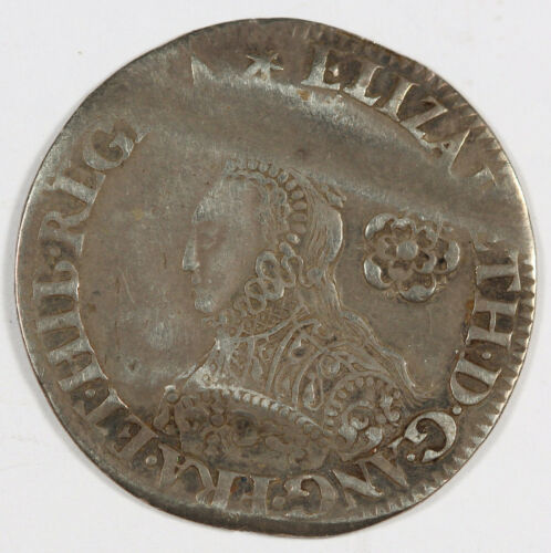 Great Britain England 1562 SixPence 6 Pence Silver Coin VF+ Elizabeth I S-2594