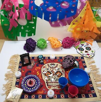 Day Of The Dead Items (Day of the Dead Altar Kit 8 Dia De Los Muertos Ofrenda Items Shrine)
