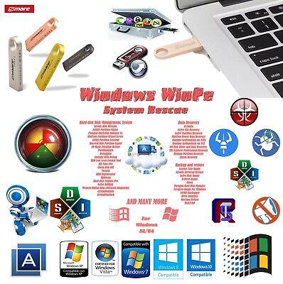 Backup-software, Usb (2019 Windows WinPE Rescue Repair Backup for Laptop & Desktop on 16gb USB Flash)