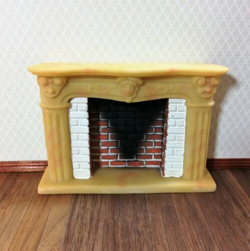 Dollhouse Miniature Large French Style Fireplace with Smoked Brick 1:12 Scale
