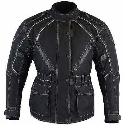 Black Tab Ladies JAZZ Black Vented Waterproof CE Armour Motorcycle Jacket