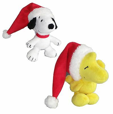 Snoopy Stofftier (Peanuts Snoopy Woodstock Weihnachtsmütze Plüschtier Stofftier Weihnachten)
