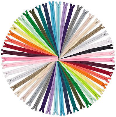 25 - YKK #3 Coil Zipper, 7 Inch Length, Assorted Colors
