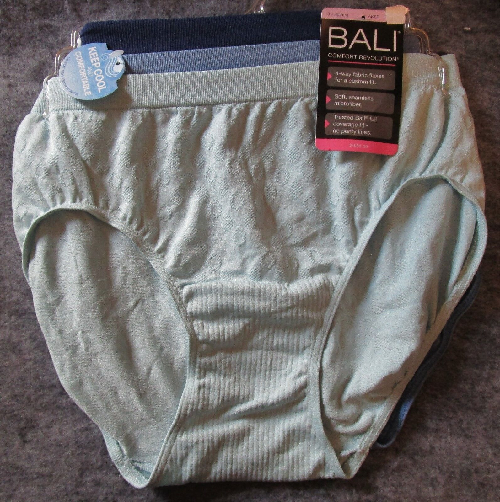 Bali Comfort Revolution Brief 3 Pack Style AK88 Size 8//9 NWT