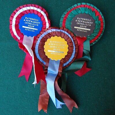 Haverhill & New Market Rosette Lot/Collection - Vintage Birds UK Prize Award