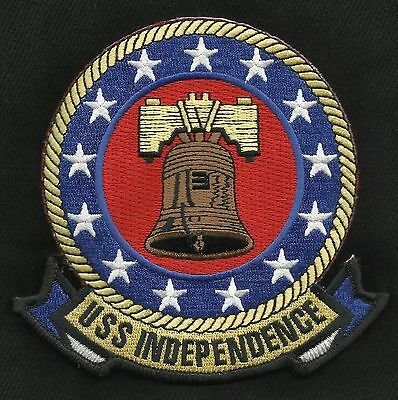 """USS INDEPENDENCE CV-62 Aircraft Carrier Military Patch """"SUPERCARRIER"""""""
