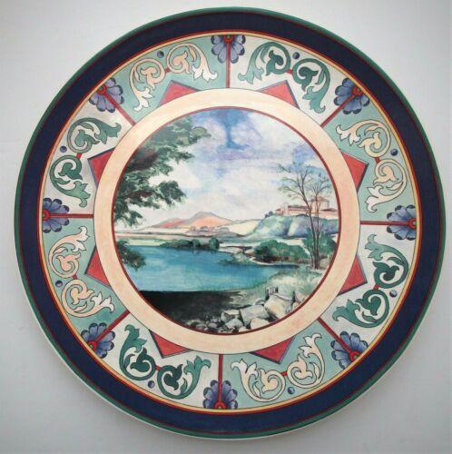 "Gien France 12"" Cake Serving Plate, Ottoman Pattern"