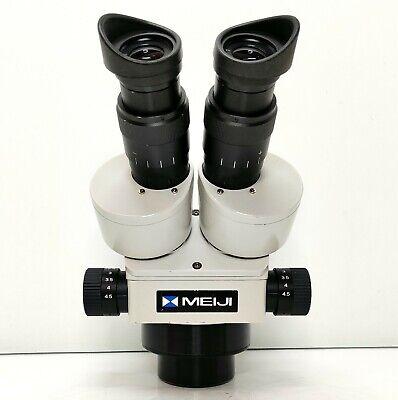 Meiji Techno Emz-5 Stereo Zoom Microscope Swf10x Eyepieces Serviced 446