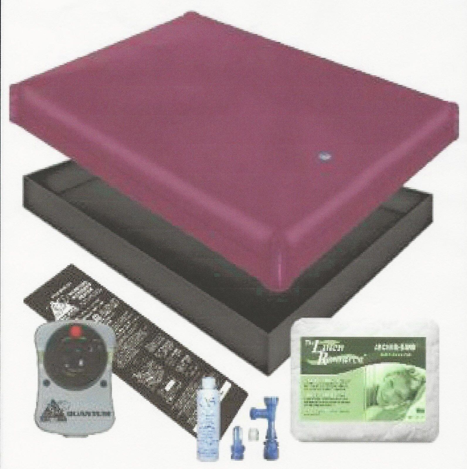 FREE FLOW WATERBED MATTRESS / PAD / LINER /HEATER / FILL DRA