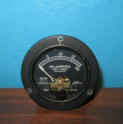 Hickok Model 56r Panel Meter 0-2.0ma Dc Milliamperes Sealed 2.75 Free Shipping
