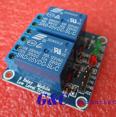 5pcs 5v 2 Channel Relay Module Indicator Light Led Arduino Pic Arm Dsp Avr M64