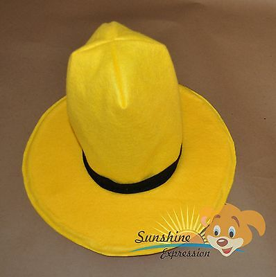 ADULT Man in the yellow HAT Curious George Gorro disfraz costume head accessory