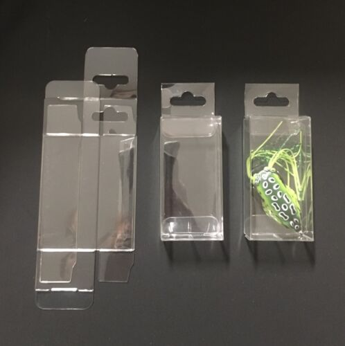 """25 Clear Plastic PET Boxes Fishing Lures Wedding Crafts Display Box 1.5""""X1""""X3"""""""