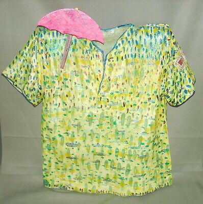 2004 LAURA WIIK Outsider Art Fabric Textile Artist CHILD'S T-SHIRT Spring Shower
