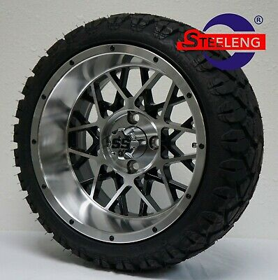 "GOLF CART 14"" VENOM WHEELS/RIMS and 20"" STINGER ALL TERRAIN TIRES DOT RATED"