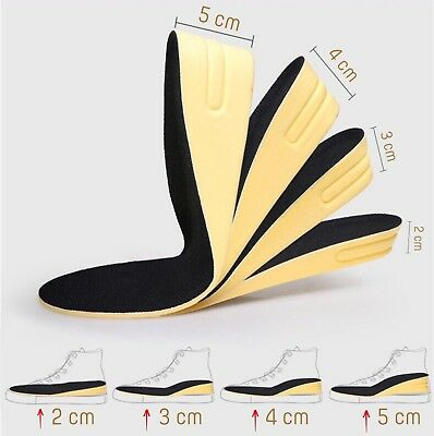 Height Increase Elevator Shoes Insoles  Heel Lifts 2Cm 3Cm 4Cm For Men   Women