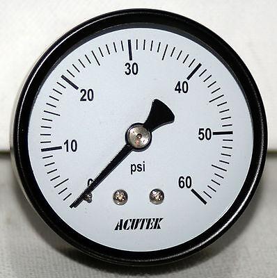 60 Psi 14npt 2 Dial Pressure Gauge  Acutek New
