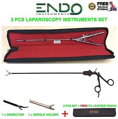 2 Pcs X Laparoscopic Tc Needle Holder Dissector Grasper 5mm 330mm Laparoscopy Ce