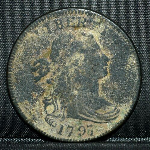 1797 LARGE CENT ✪ XF EXTRA FINE DETAILS ✪ 1C DRAPED BUST COIN L@@K NOW ◢TRUSTED◣