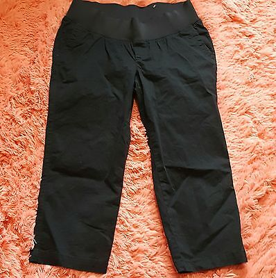Nwot Old Navy Maternity Sz 8 Capris Black Stretch Crop Pants Olx Demi Brand New
