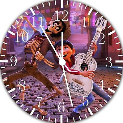 Disney Película Coco Frameless Impresión Reloj de Pared Bonito para o Decoración