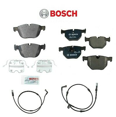 For BMW E70 X5 E71 X6 Front & Rear Bosch Brake Pads and Aftermarket Sensors KIT