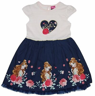 BRAND NEW GIRLS OFFICIAL DISNEY PRINCESS BELLE DRESS AGES: 2-3 up to 6-7 YEARS
