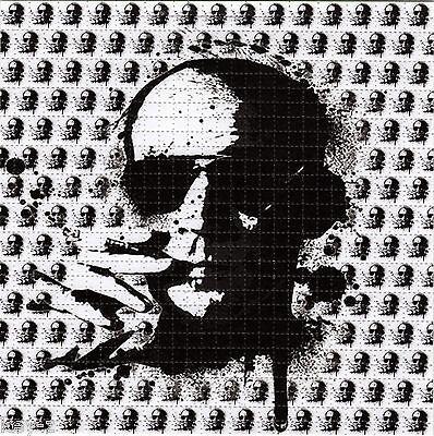 B/W HUNTER S THOMPSON BLOTTER ART psychedelic LSD Acid Art paper sheet tabs