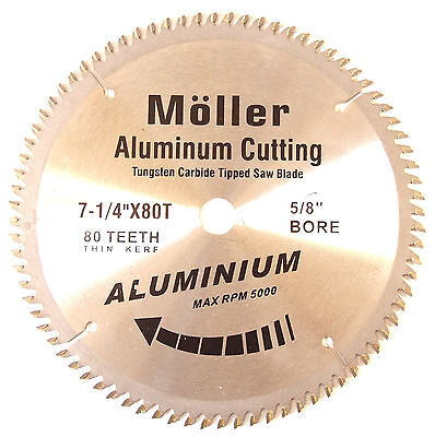 Lot Of 3 7-14 X 80t Aluminum Cutting Circular Saw Tct Blade
