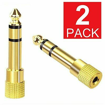 6.3mm 1/4″ Male plug to 3.5mm 1/8″ Female Jack Stereo Headphone Audio Adapter Audio Cables & Interconnects