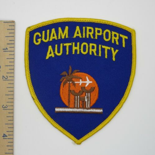 GUAM AIRPORT AUTHORITY POLICE PATCH Original Vintage