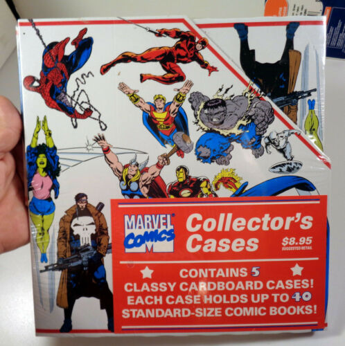 Marvel Comics Collectors Case 5 pack 1990 Sealed