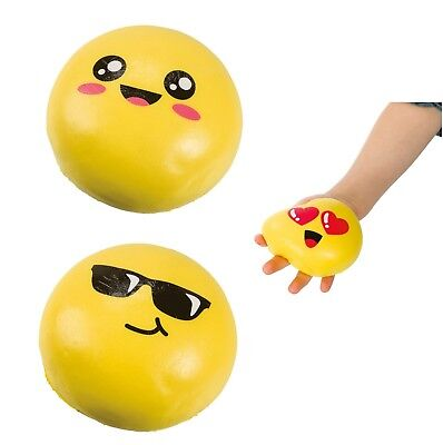 (1) Big Emoji Squishy Stress Ball Relief Anxiety Calming Fidget Autism ADHD (Ball Emoji)
