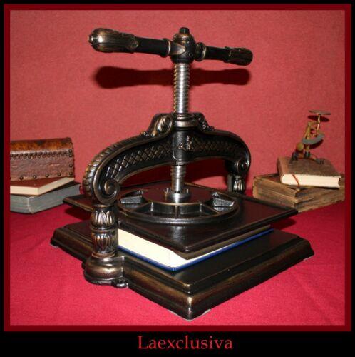 Antique Cast Iron Book Binding Paper ultra ornate Press dated between 1890-1910