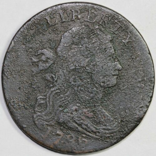 1796 1c Draped Bust S-116 Large Cent UNSLABBED