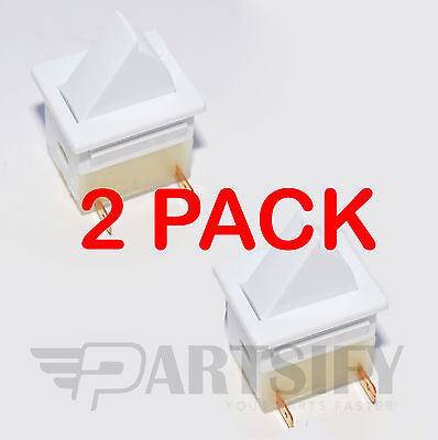 2 PACK NEW C3680301 REFRIGERATOR LIGHT SWITCH FITS WHIRLPOOL MAYTAG FRIGIDAIRE