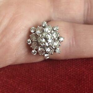 Old European diamond and platinum ring custom made