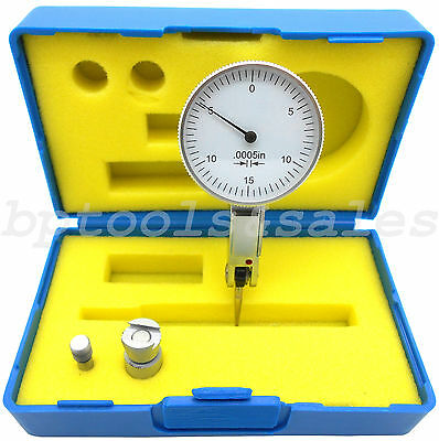 0.03 Dial Test Indicator High Precision 0.0005 Graduation 0-15-0 White Face
