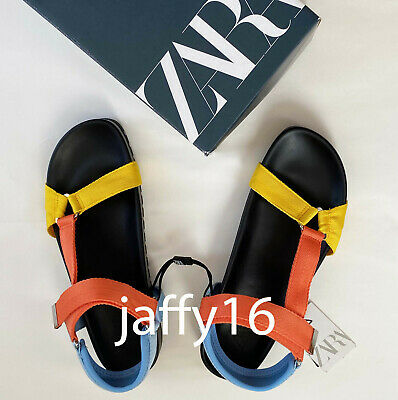 ZARA NEW WOMAN MULTICOLOURED FLAT SANDALS 35-42  3616/510