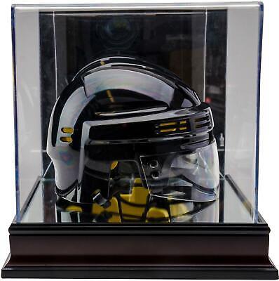 Antique Mahogany Hockey Mini Helmet Display Case with Mirror Bottom - Fanatics