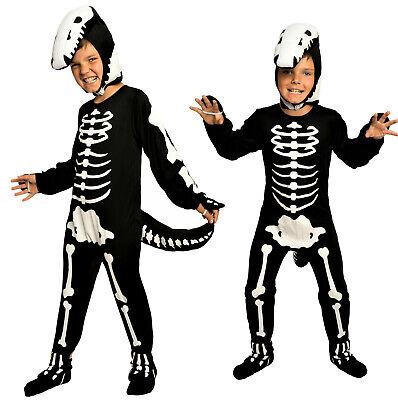 TOP! FASCHING Skelett Dinosaurier Dino Kostüm Kinder Jungen Faschingskostüm