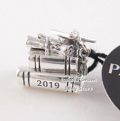 GRADUATION CAP BOOK SCROLL 2019 Genuine PANDORA Silver Charm 798034 NEW w TAG! - Graduation Charms